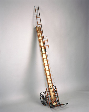 Abraham Wivell fire escape, c 1836.