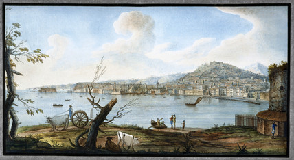 Naples as seen from near the bridge of Maddalena, Kingdom of Naples, c 1767.