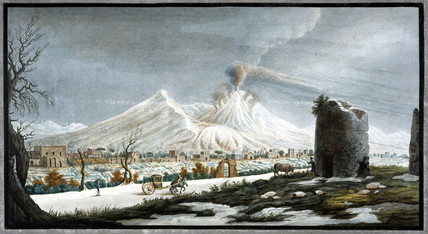 Mount Vesuvius erupting, Kingdom of Naples, winter 1767.