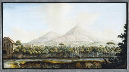 Mount Vesuvius, Kingdom of Naples, c 1767.