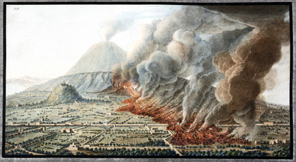 Mount Vesuvius erupting, Kingdom of Naples, 1760.