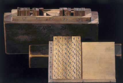 Napier's Bones, c 1690.