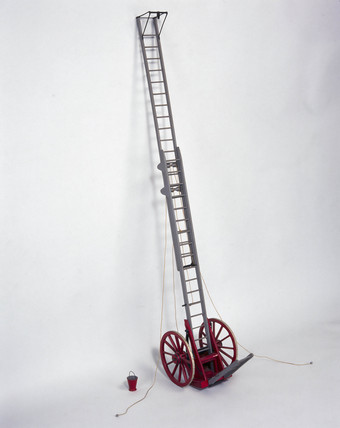 Abraham Wivell extending ladder, c 1836.