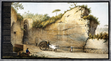 The Grotto of Pausilipo, Kingdom of Naples, c 1760.