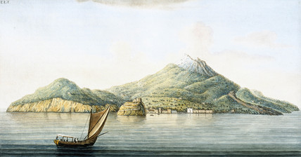The island of Ischia, off the coast of Sicily, c 1770.