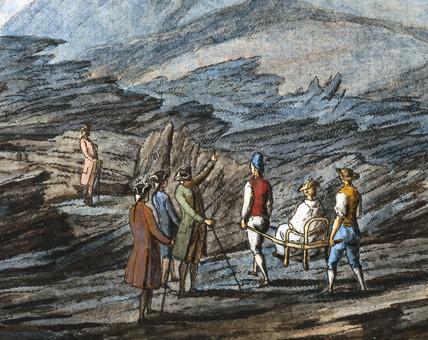 The Atrio di Cavallo valley, Kingdom of Naples, c 1770.