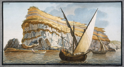 The 'Capo dell'Arco', a headland on the island of Ventotiene, (southern Italy), c 1776.