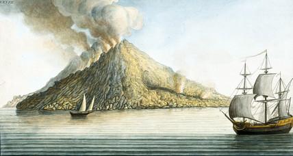 The island of Stromboli, Sicily, 1768.