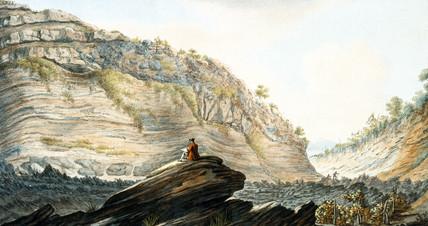 Fosa Grande, on the flanks of Mount Vesuvius, Kingdom of Naples,  c 1767.