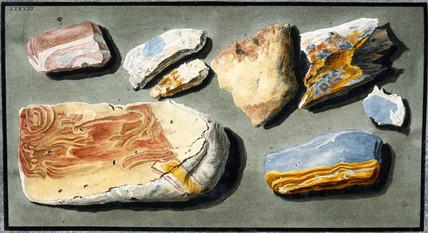 Specimens of volcanic material, c 1768.