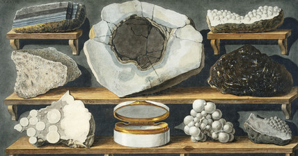 Rock fragments from Mount Vesuvius, c 1770.