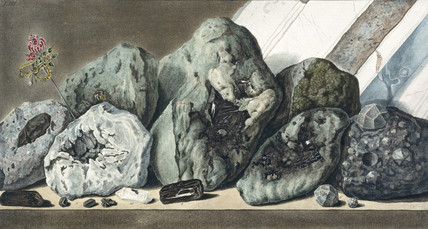 Stones and crystals from Mount Vesuvius, c 1770.