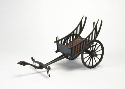 Burmese market cart, 19th century.