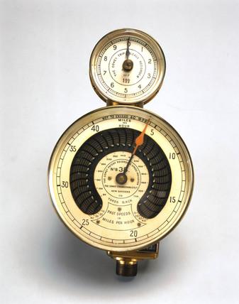 Recording speed indicator, 1910.
