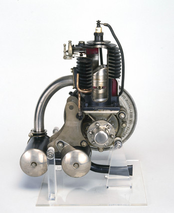 Villiers two-stroke engine, and flywheel magneto, c 1919.