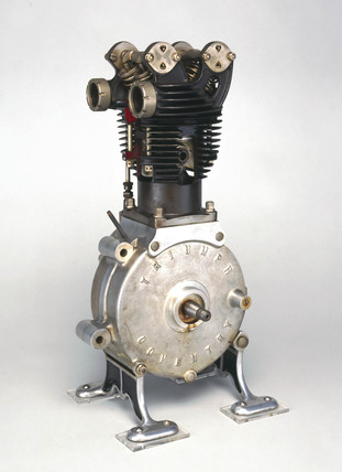 Triumph motor cycle engine, 1921.
