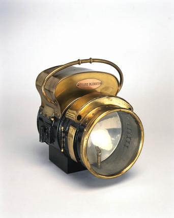 Bleriot acetylene headlamp, 1896.