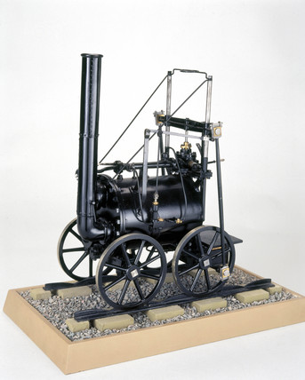 Trevithick's London locomotive, 1808. Model