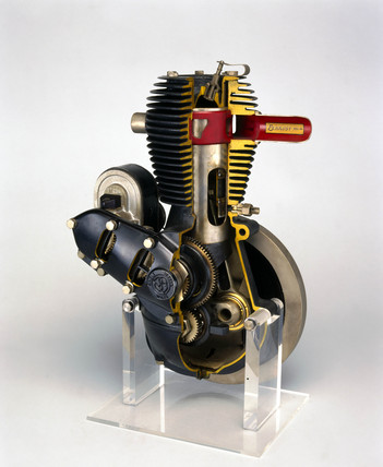 Barr and Stroud motorcycle engine, 1923.