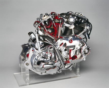 Vincent HRD motorcycle engine, 1950.