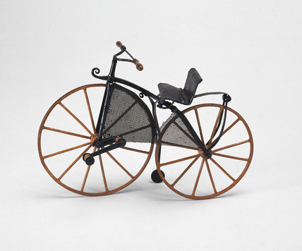 Lady's 'boneshaker' bicycle, 1870.