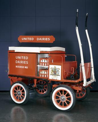 Milk delivery van, c 1935.
