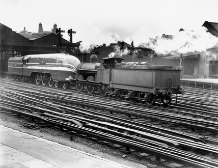 First of the stramlined class 4-6-2, 'The Coronation Scot' steam locomotives