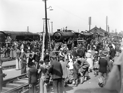Railway exhibition at Ilford, 1934.