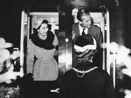 The Queen and Duke of Edinburgh.