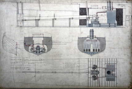 Plans of SS 'Harbinger', 1851.