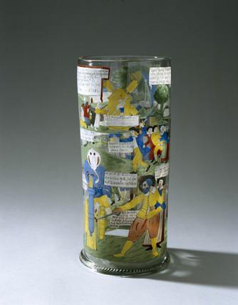 German glas vase, 1650-1800.