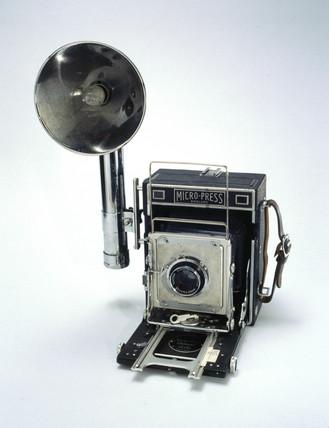 MPP Micro-Pres 5X4 pres camera, c 1951-1956.