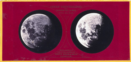 Stereoscopic photograph of the Moon, c 1855.