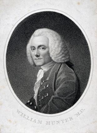 William Hunter, British anatomist and obstetrician, 1740.