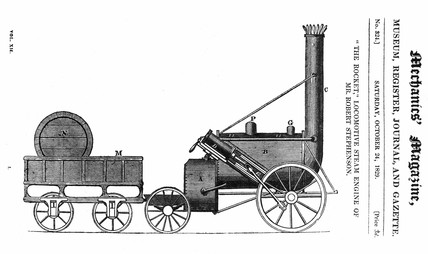 Stephenson's 'Rocket', Mechanics Magazine, 24 October 1829.