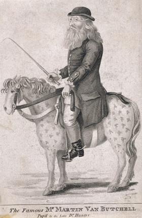 Martin van Butchell, eccentric dentist, late 18th century.