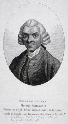 William Hunter, British anatomist and obstetrician, mid-18th century.