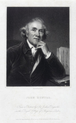 John Hunter, British surgeon and anatomist, 1786.
