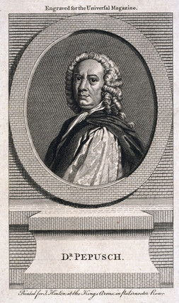 Johann Christoph Pepusch, German composer and musical theorist, c 1725.