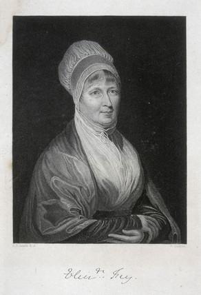 Elizabeth Fry, social reformer, c 1840.