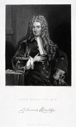 John Radcliffe, British physician, c 1700.