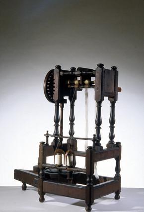 Arkwright's prototype spinning machine, 1769.