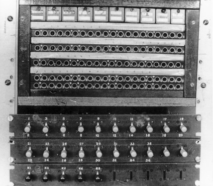 The 'Colosus' computer, Bletchley Park, 1943.
