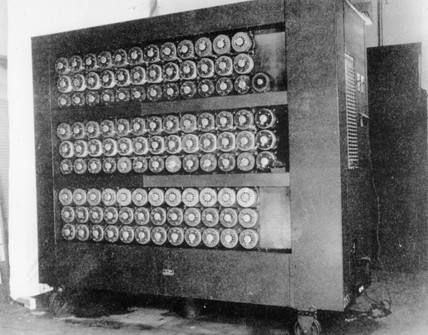 The 'Bombe' code-breaking machine, 1943.