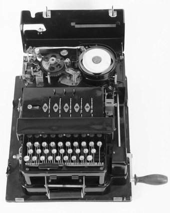 Portable British Typex machine, c 1930s.
