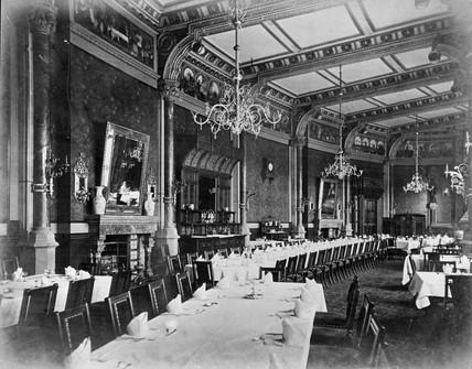 Interior of St Pancras station Hotel, 1866-1870.