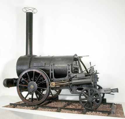Remains of Stephenson's 'Rocket', 1829. The