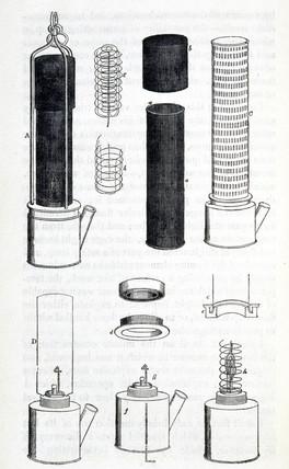 Davy Lamp, 1815.