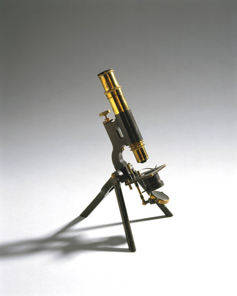 Portable microscope, c 1895.
