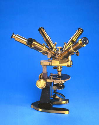 Thury's multi-ocular microscope, c 1885.
